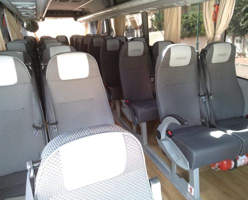 minibus 28 - inside